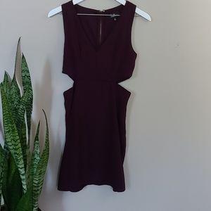 Lulu's Burgundy Cutout Dress